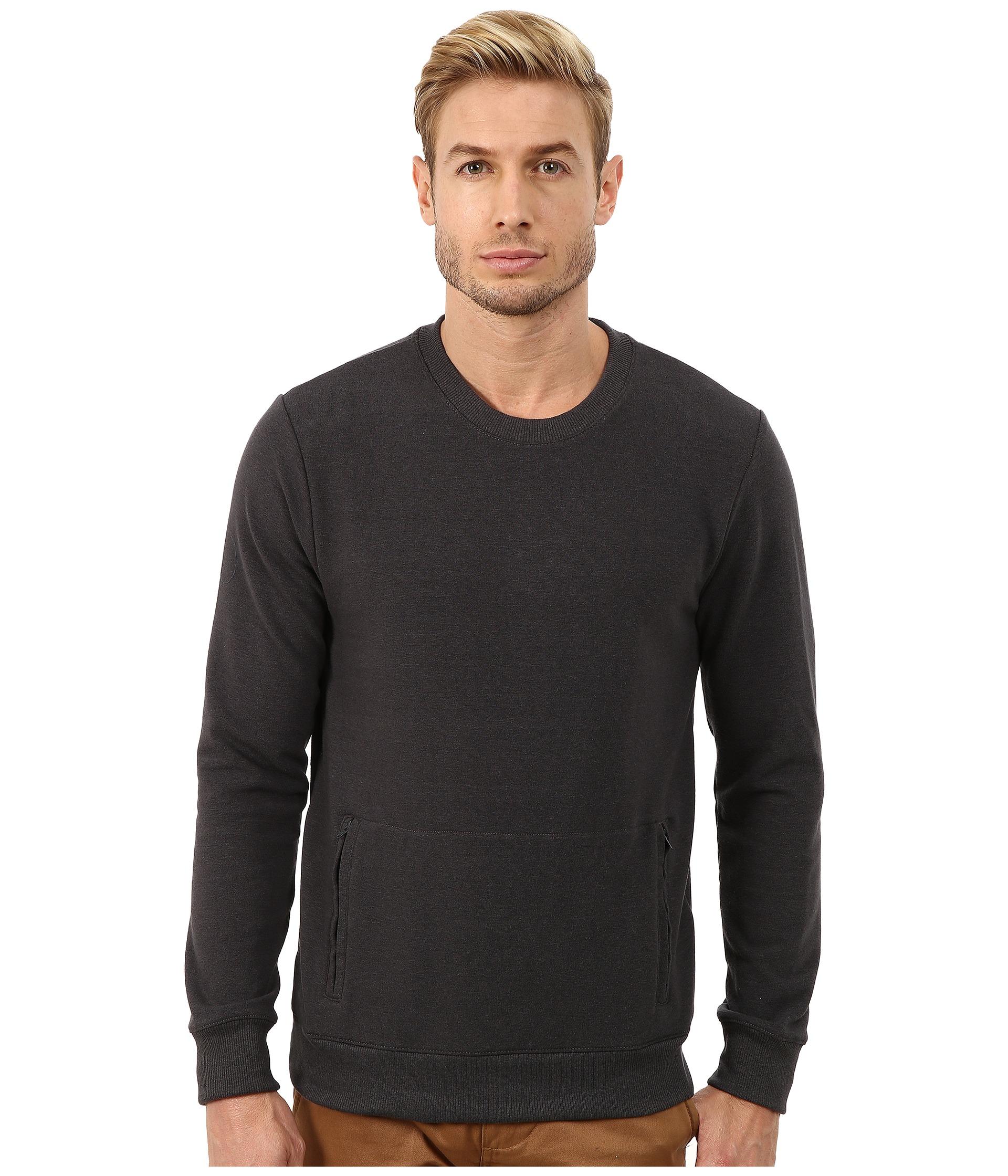 Lyst alternative apparel eco stretch mock twist commuter for Mock crew neck shirts