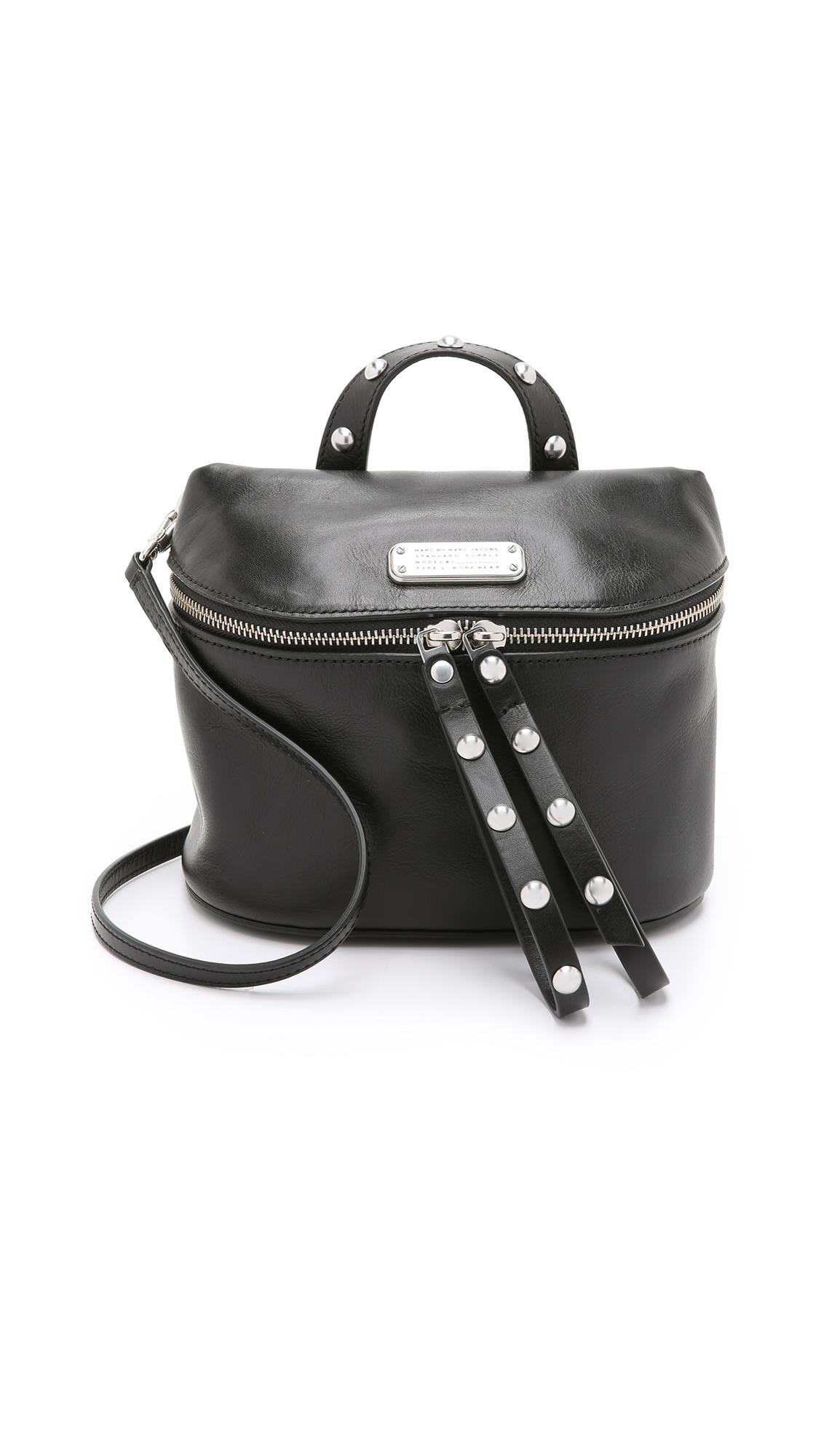 f2f1d8ff865a Lyst - Marc By Marc Jacobs Rivet Canteen Cross Body Bag - Black in Black