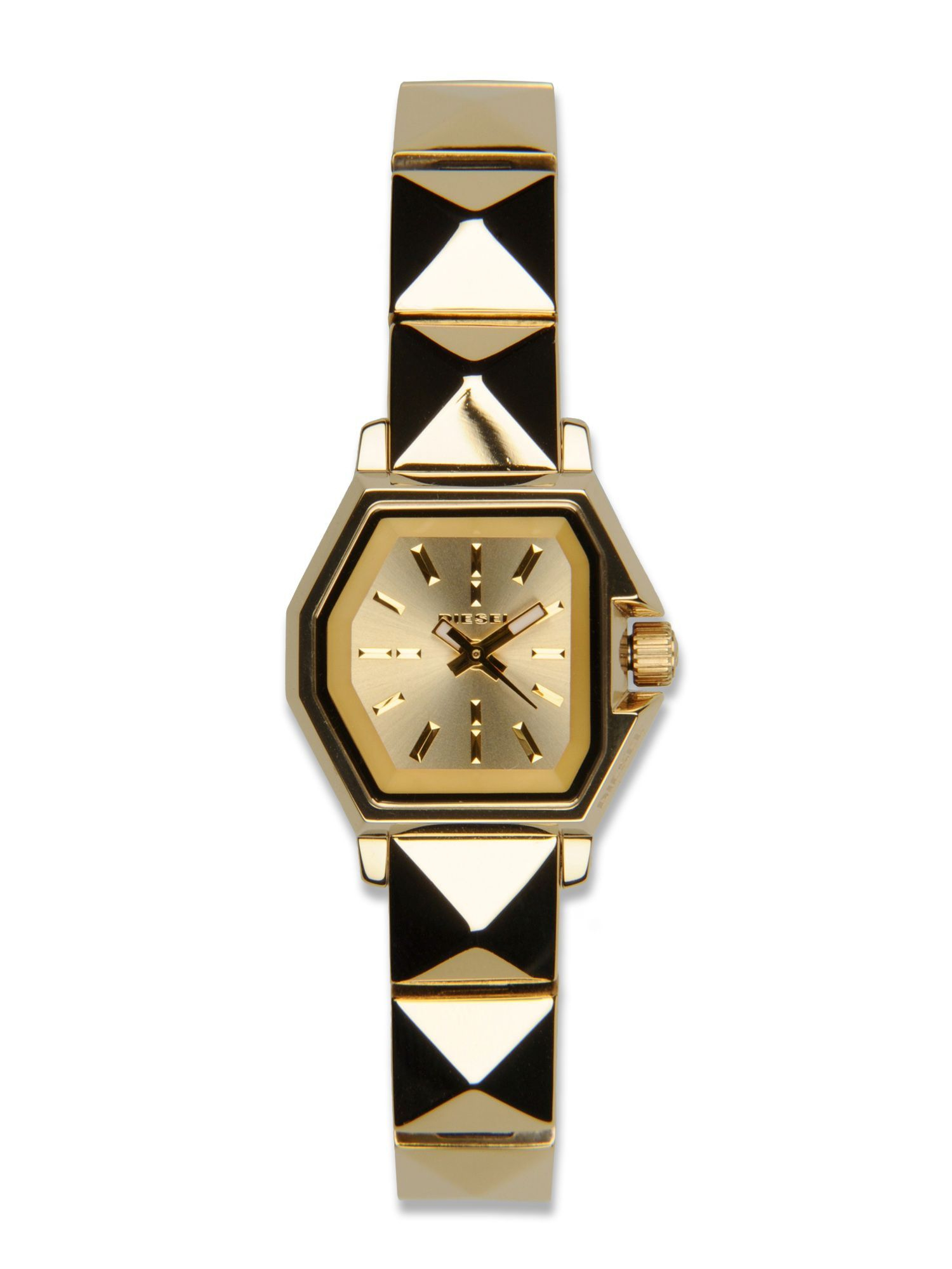 diesel watches in gold for lyst