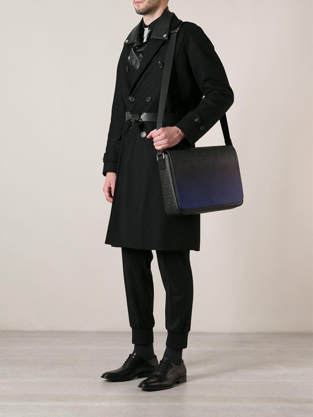 4ec84fd85c4f ... where to buy fendi medium messenger bag in blue for men lyst c2f25 8fe65