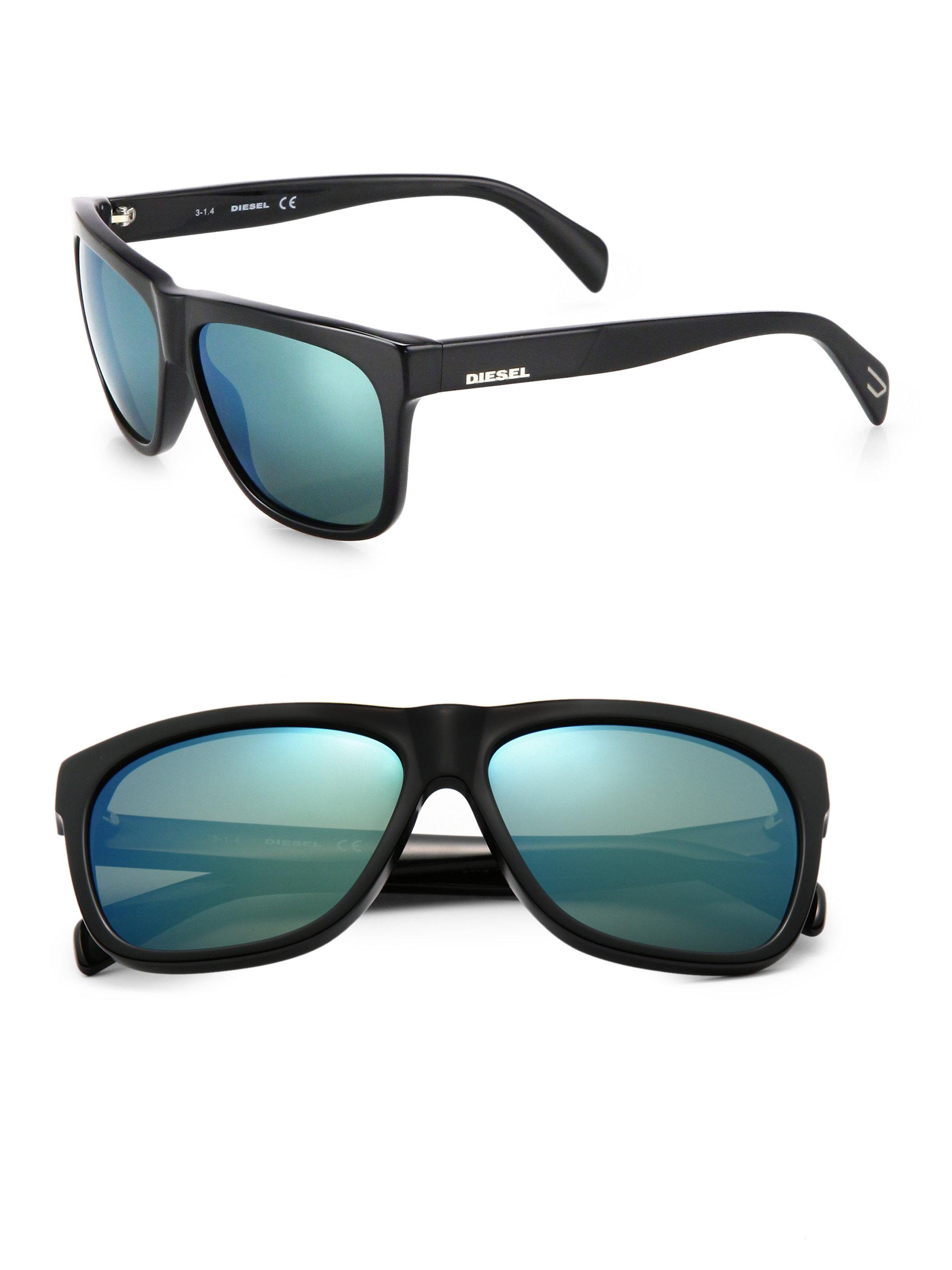 5c4ec03b8f Lyst - DIESEL 58Mm Wayfarer Sunglasses in Black for Men