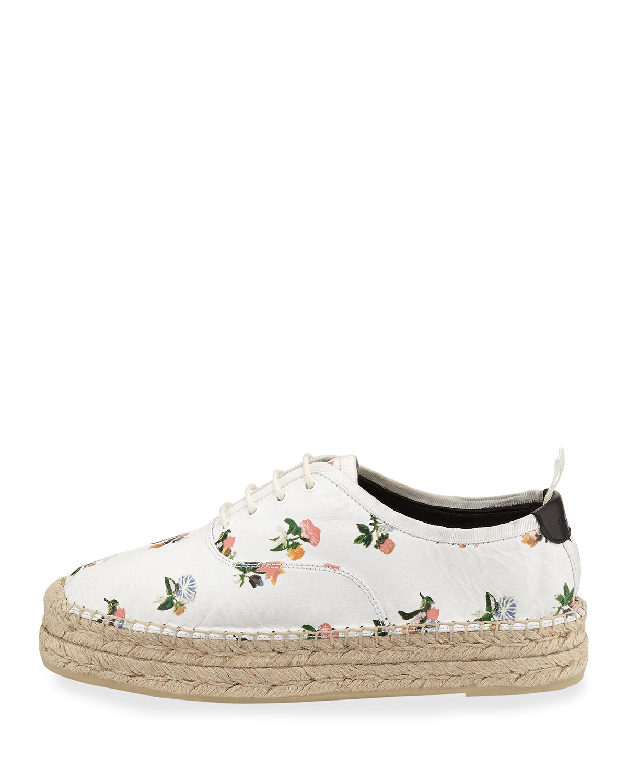 Lyst - Saint Laurent Grunge Floral-print Espadrille Sneaker 0a4a3ae6c539