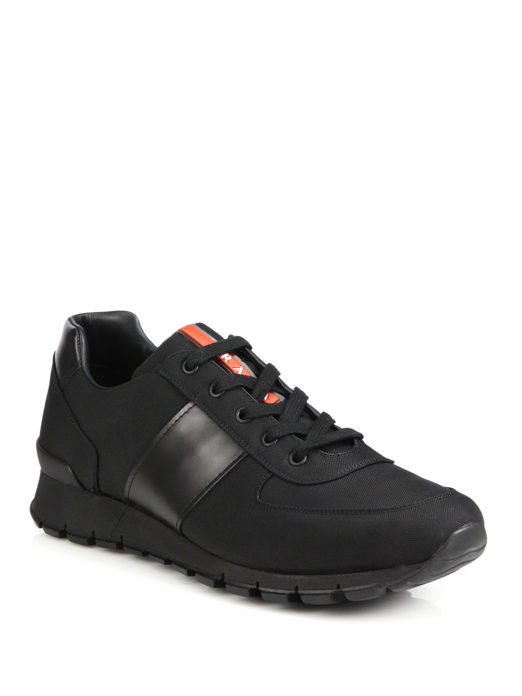 Lyst - Prada Spazzolato Running Sneakers in Black