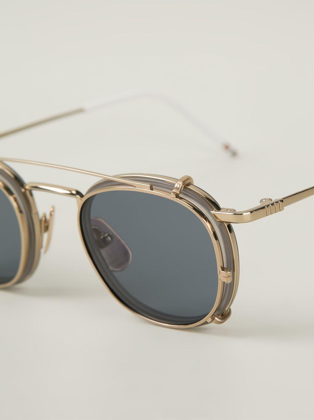 round framed sunglasses - Grey Thom Browne WLqrcRIM