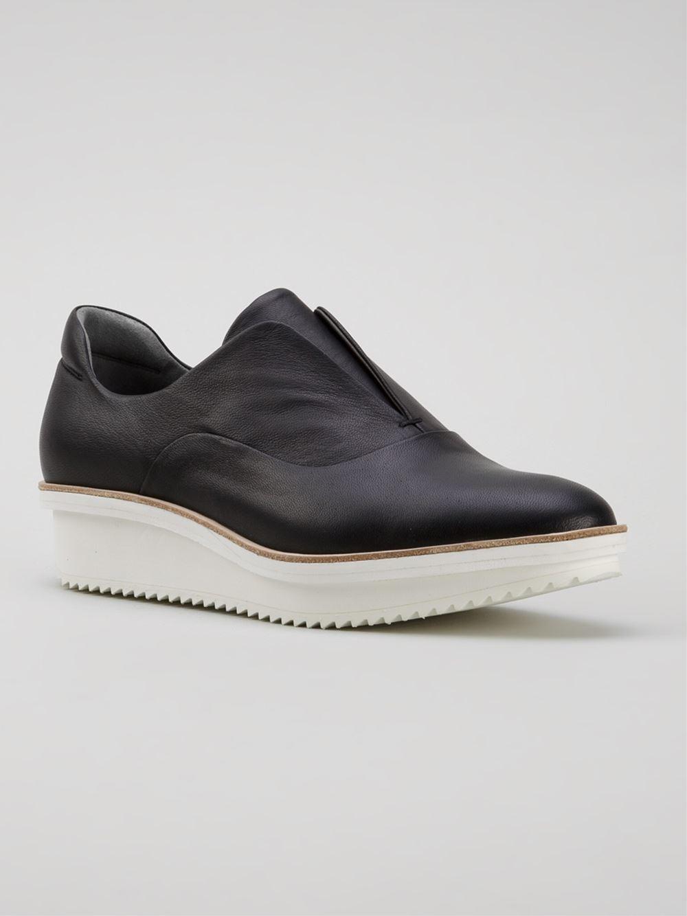 reed krakoff oxford wedge sneakers in black lyst