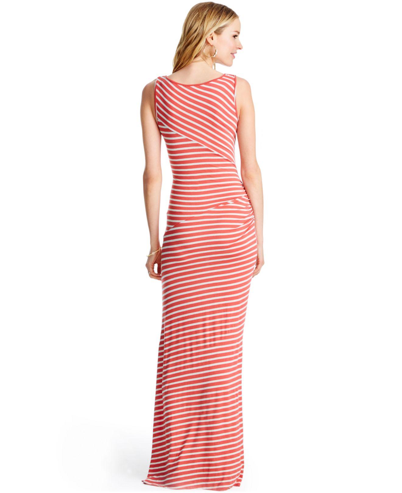 Jessica simpson striped maxi dress in orange lyst gallery ombrellifo Gallery