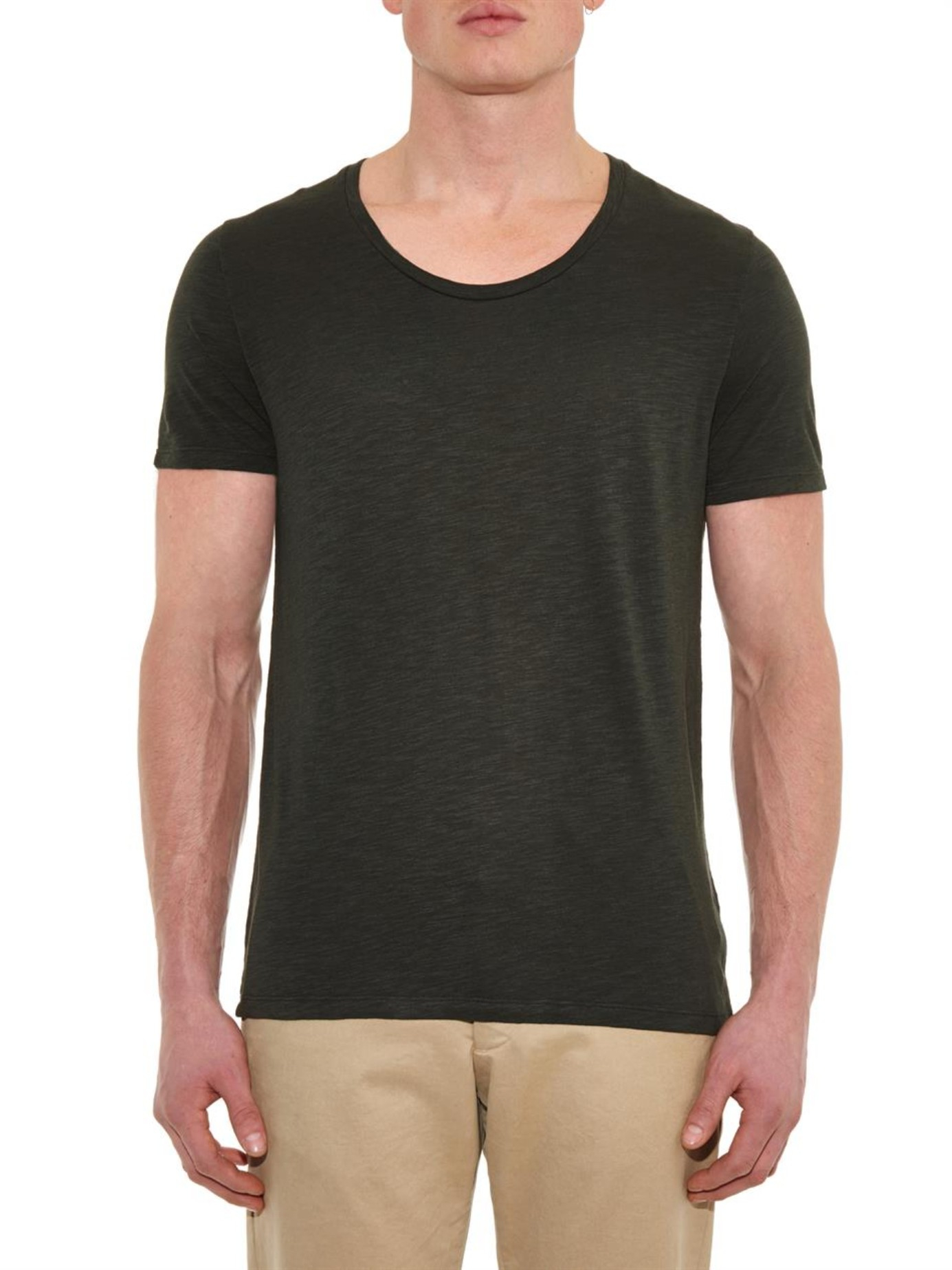 lyst american vintage jacksonville t shirt in gray for men. Black Bedroom Furniture Sets. Home Design Ideas