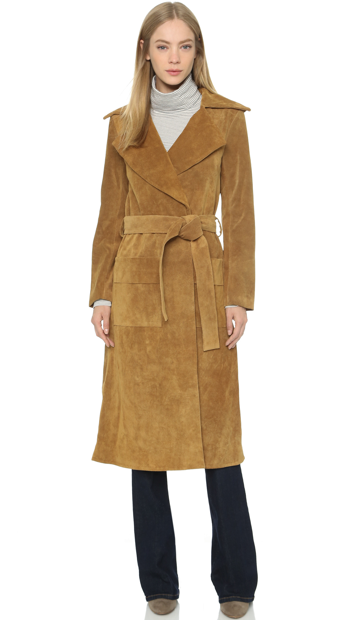 Lyst - Frame Le Suede Duster