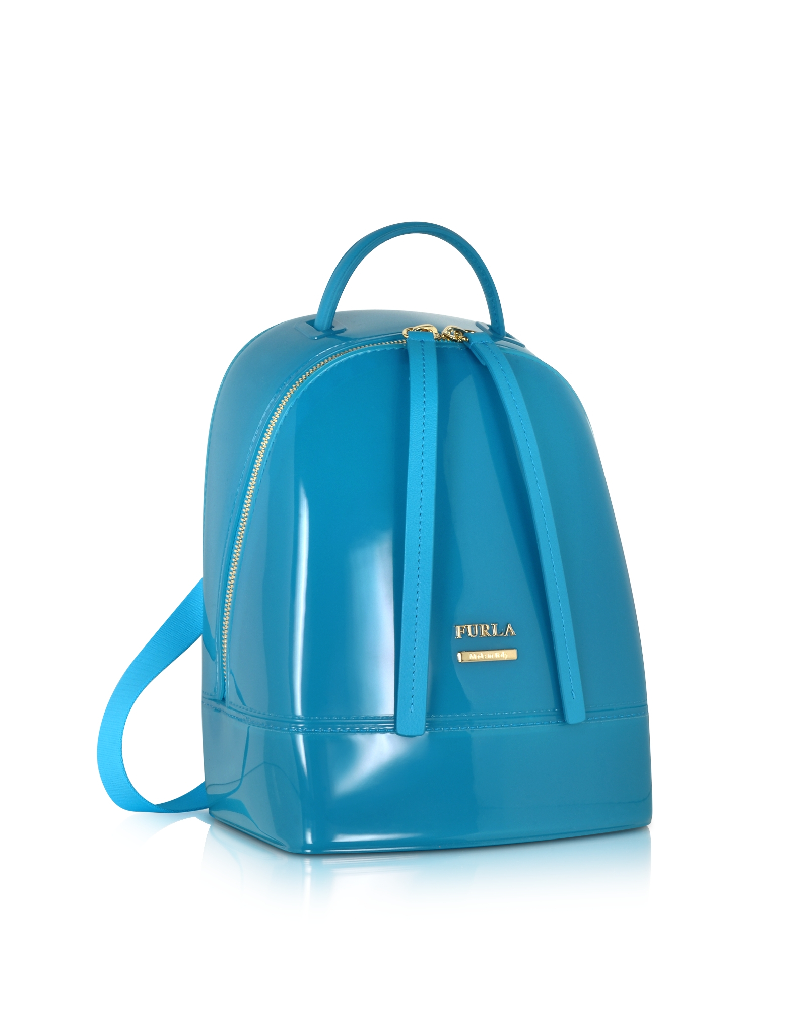 Lyst Furla Candy Jelly Rubber Mini Backpack In Blue