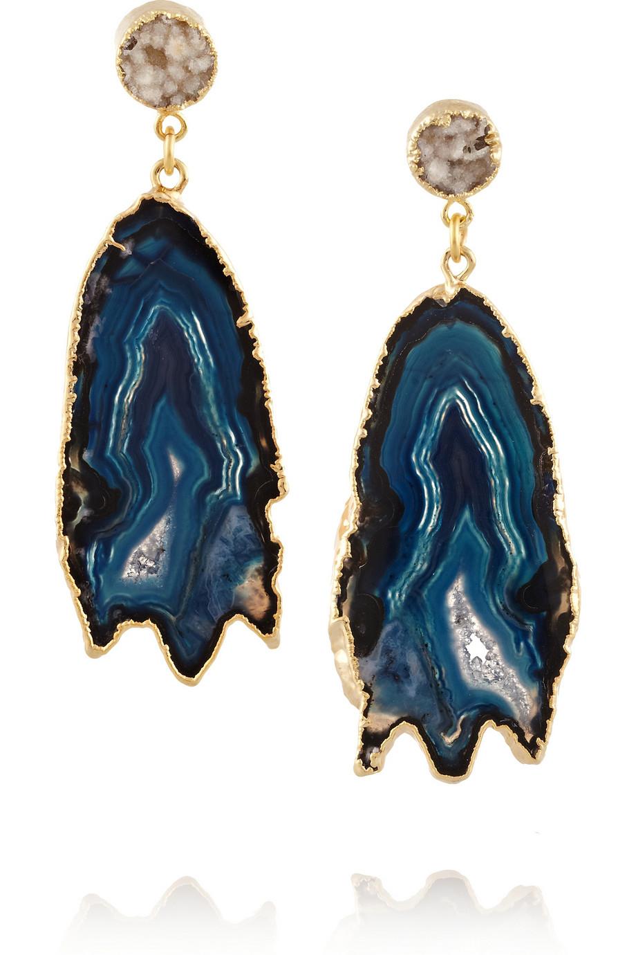 Lyst Dara Ettinger Aubrey Goldplated Druzy And Geode