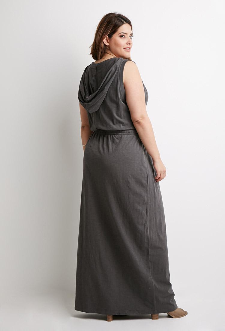 Hooded maxi dresses