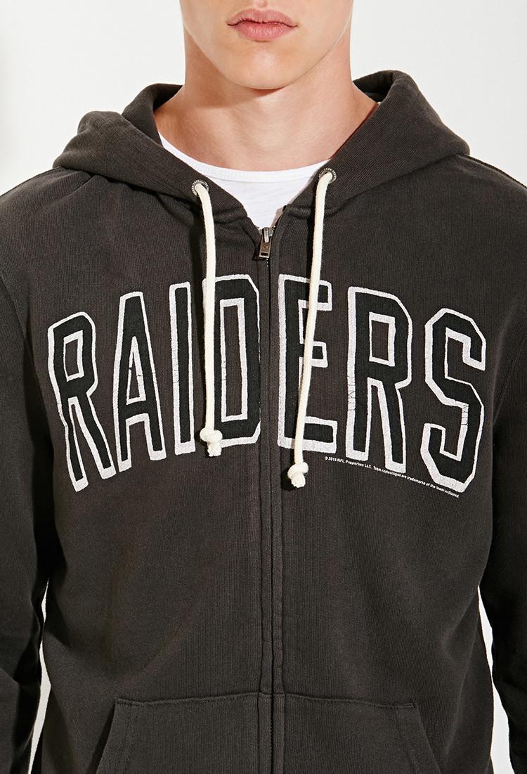 Forever 21 Junk Food Nfl Oakland Raiders Hoodie in Black for Men ...