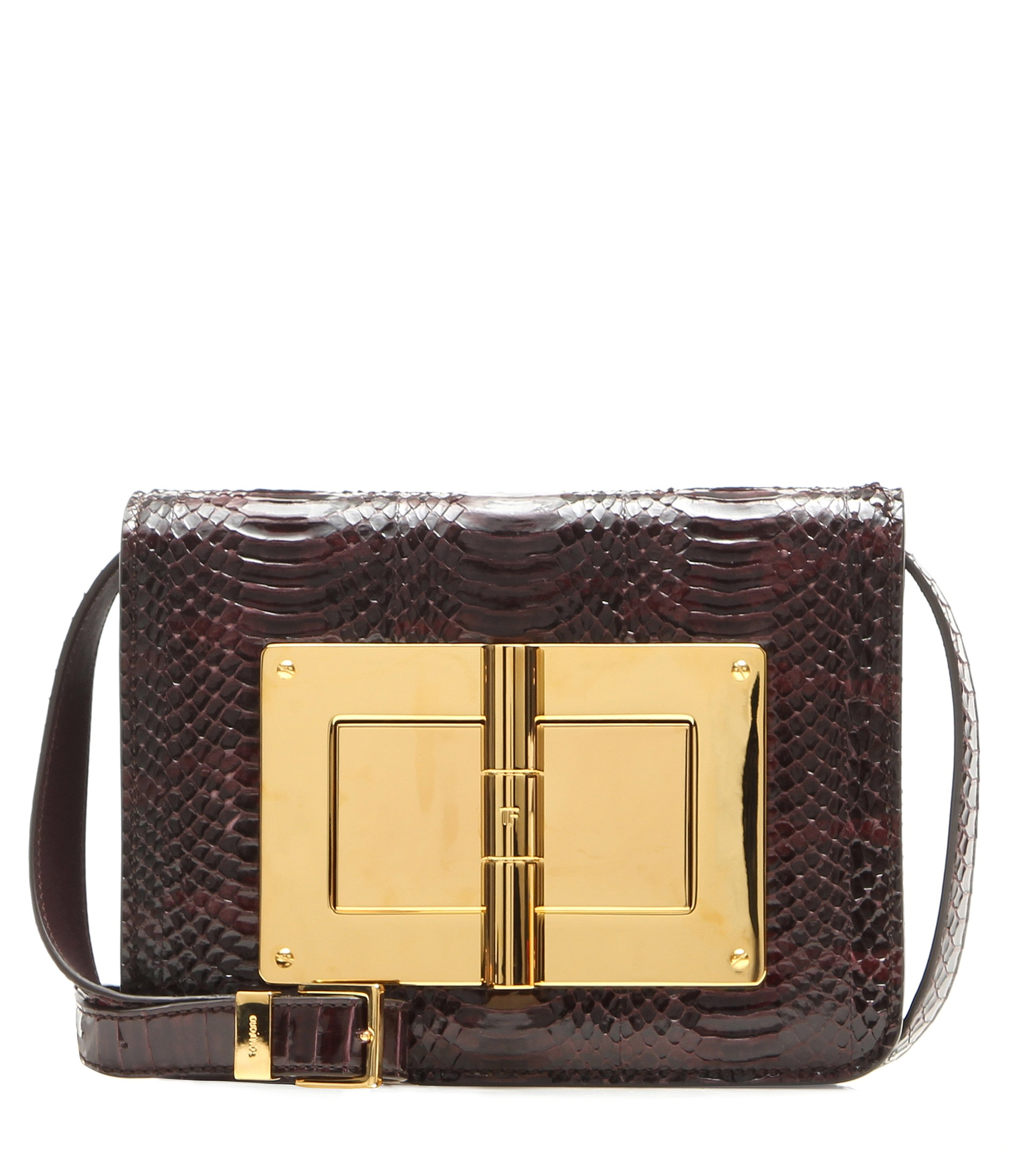 cca147f48d8c Lyst - Tom Ford Natalia Medium Snakeskin Shoulder Bag in Purple