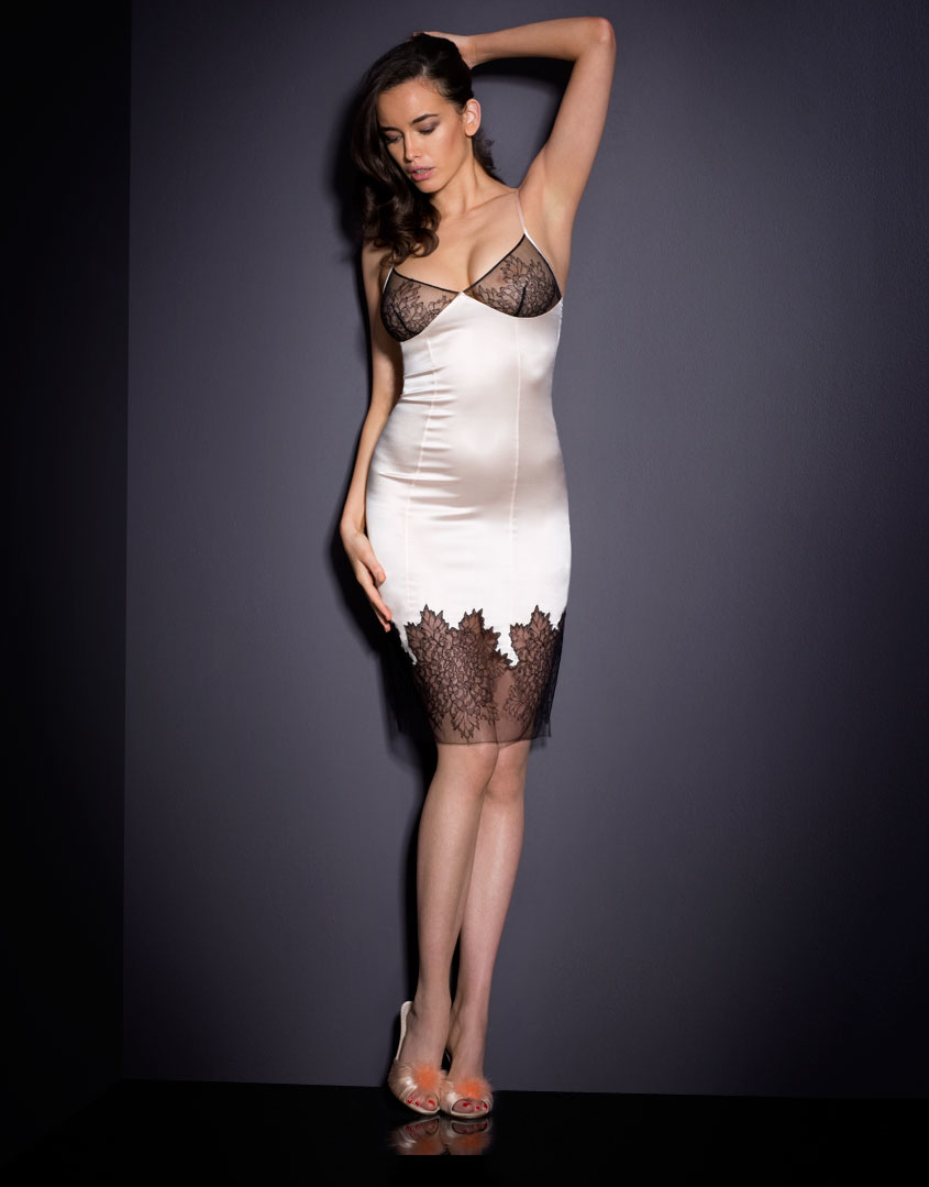 Agent Provocateur Shirley Short Slip Dress Cream In Natural cream Lyst