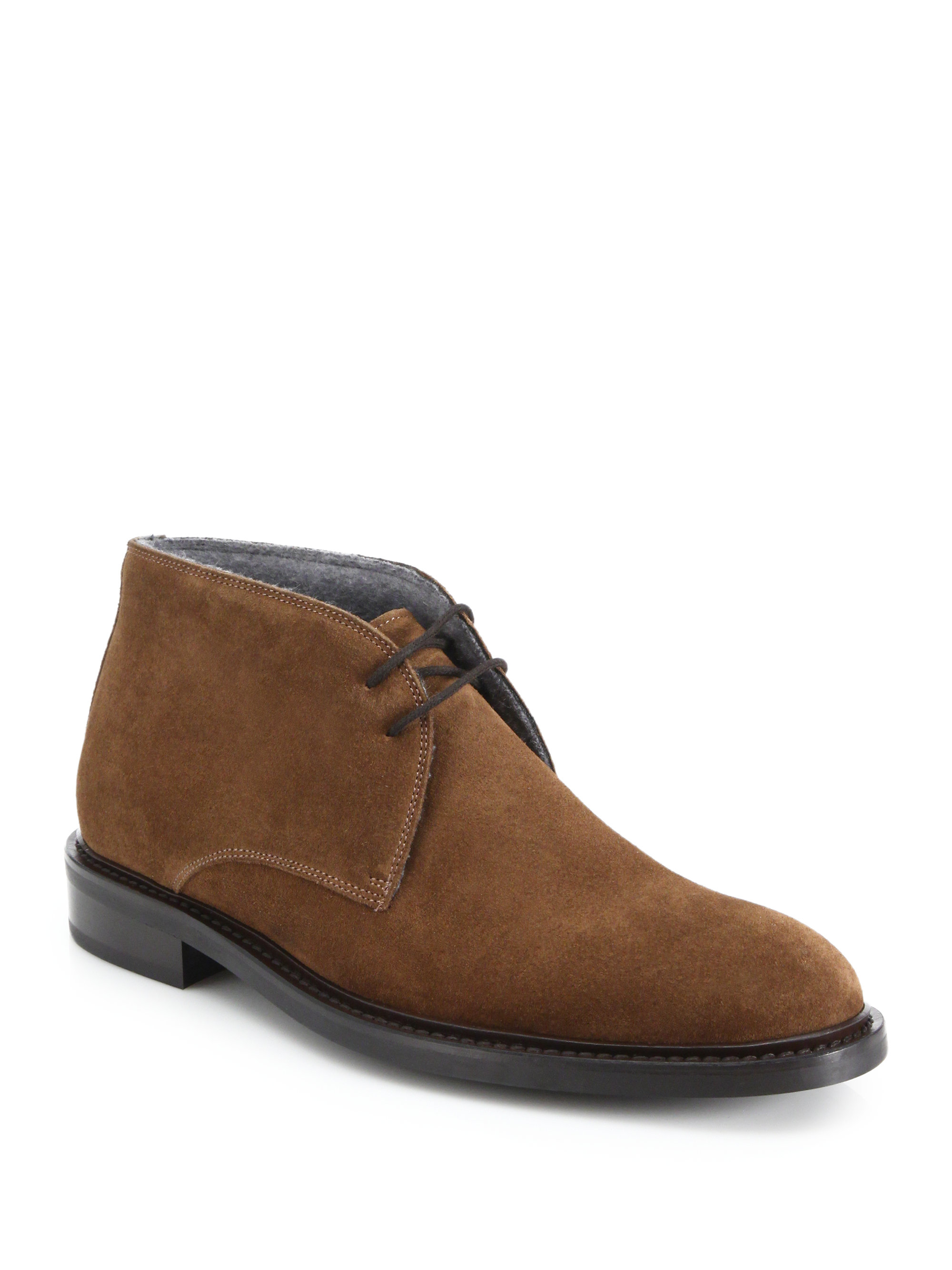 to boot brewer suede chukka boots in brown for lyst