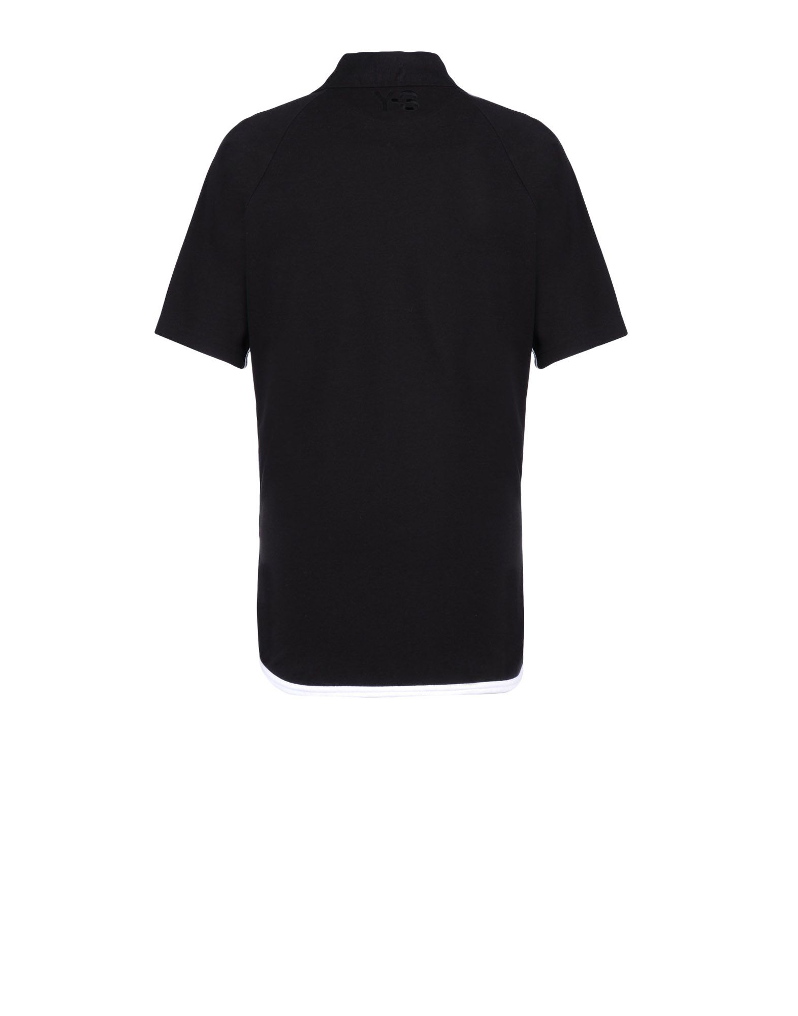 Y 3 lux polo shirt in black for men lyst for Light brown polo shirt