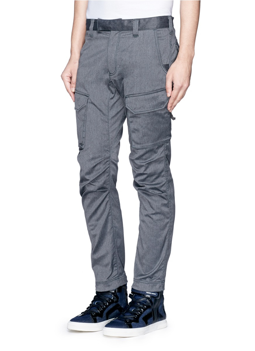 White mountaineering Slim Fit Cargo Pants in Gray for Men | Lyst