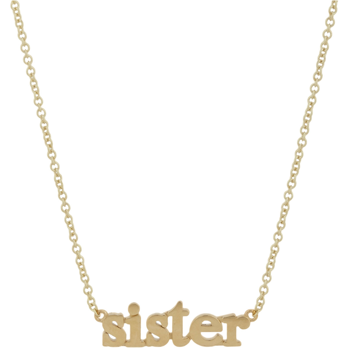 Jennifer meyer sister pendant necklace in metallic lyst gallery mozeypictures Image collections