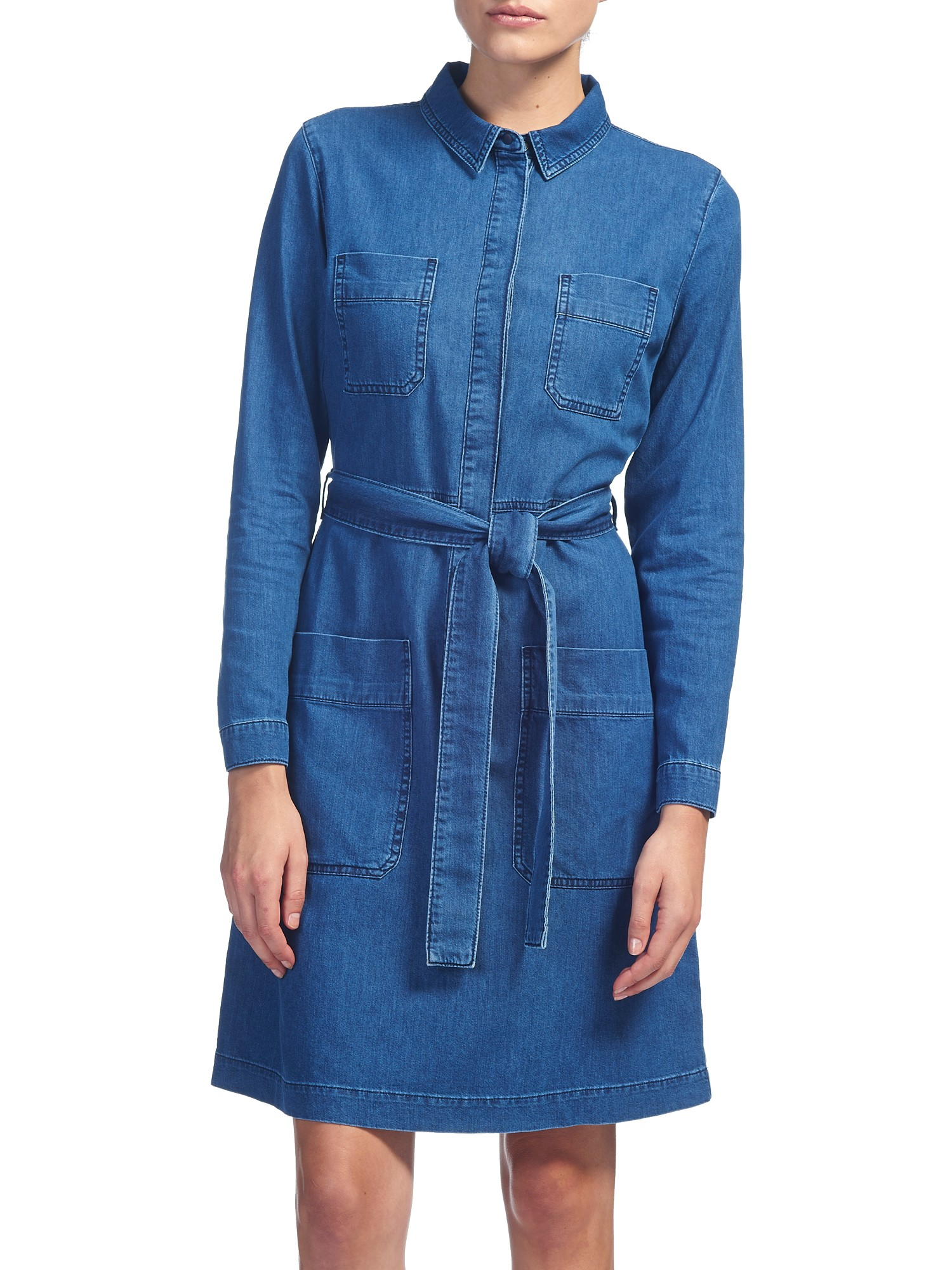 Whistles Carrie Denim Shirt Dress In Blue Lyst