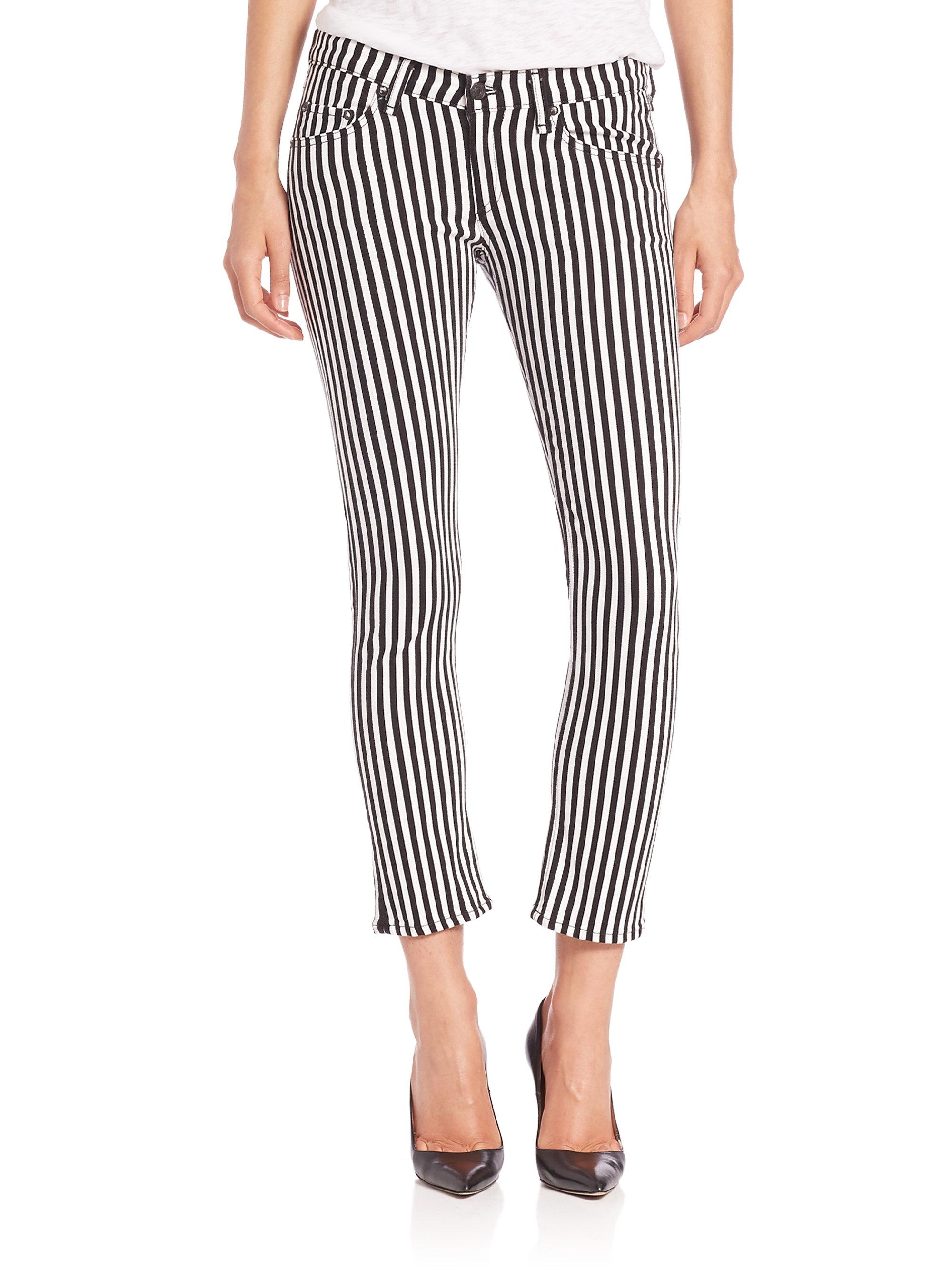 Rag & Bone Striped Mid-Rise Jeans Sale High Quality Get Authentic iBtbN