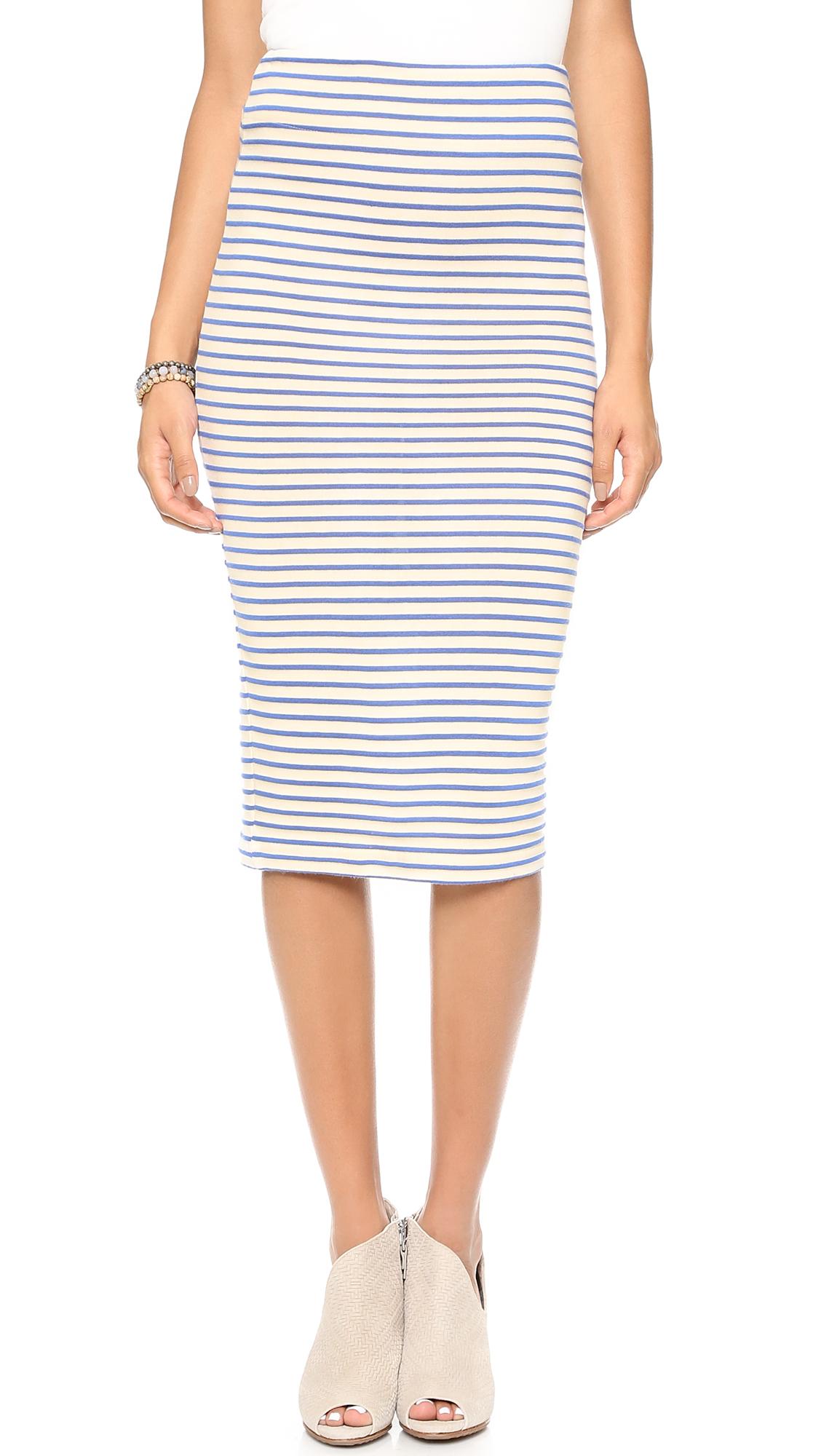 the the sailor pencil skirt mediterranean stripe in
