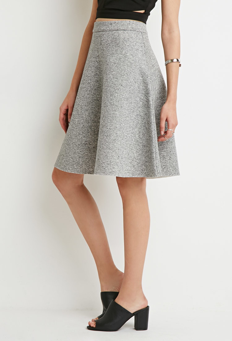 Forever 21 Heathered A-line Skirt in Gray | Lyst