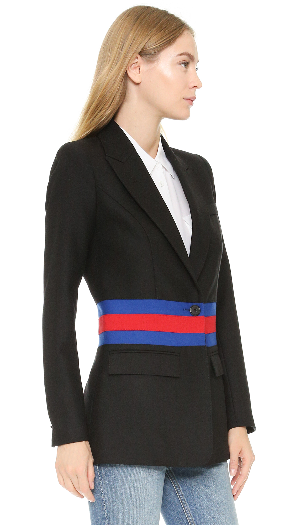 Smythe tailored blazer in black lyst for Smythe designer