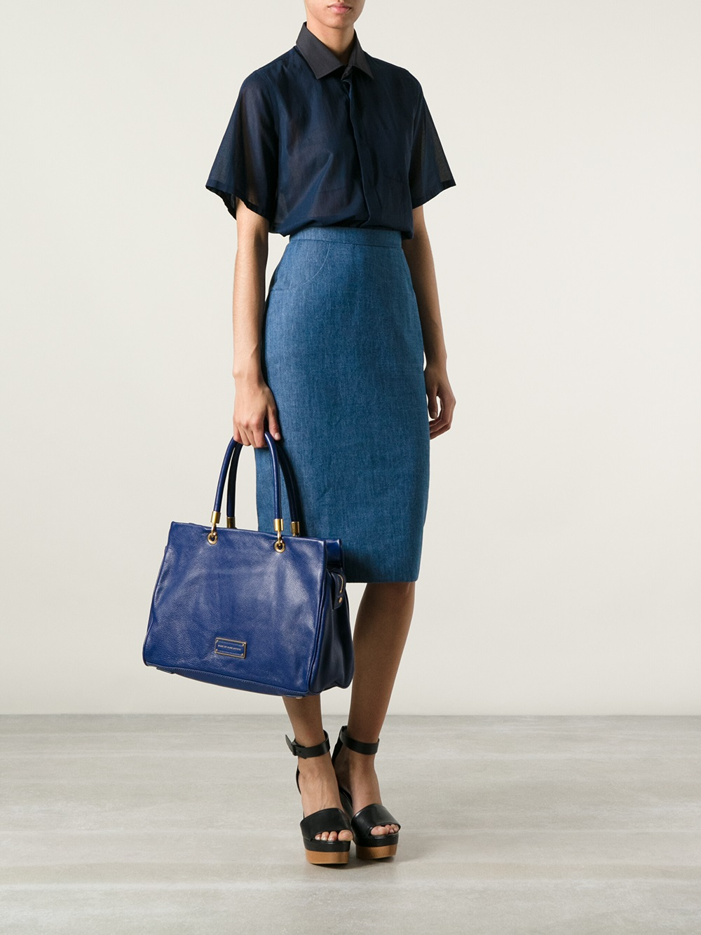 Lyst Marc By Marc Jacobs Too Hot To Handle Tote In Blue