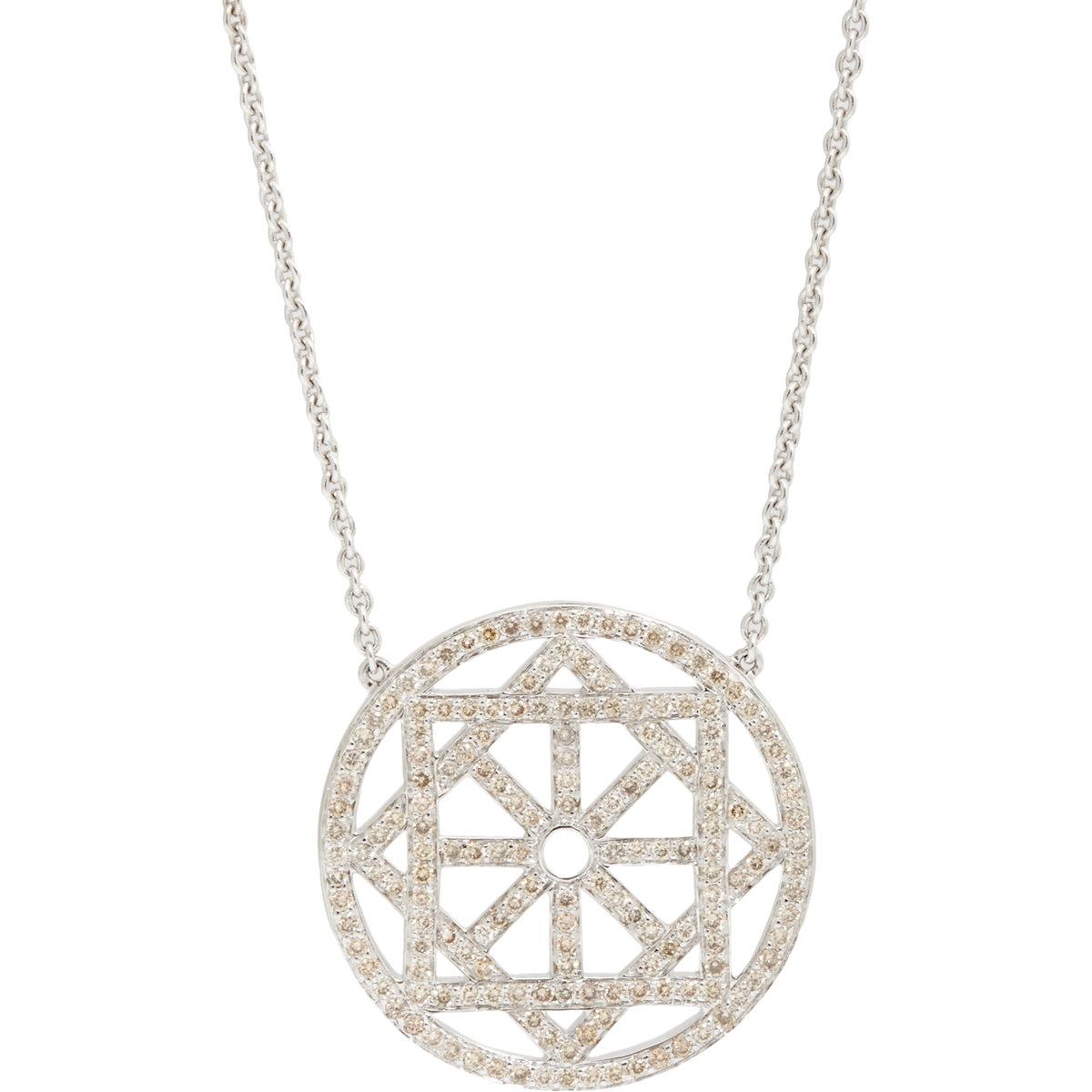 Pamela Love Women S Arch Pendant Necklace In Metallic Lyst
