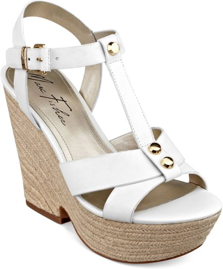 marc fisher malek tstrap platform wedge sandals in white