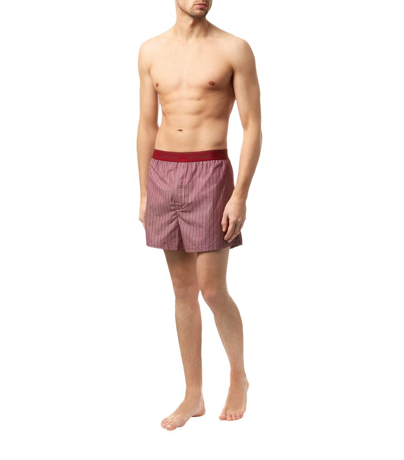 calvin klein traditional fit underwear boxers in red for