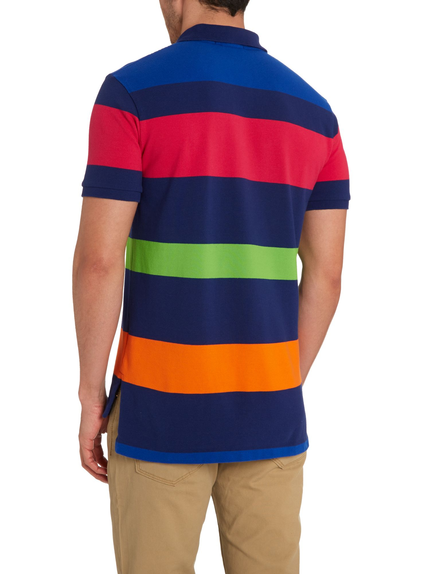 Lyst - Polo Ralph Lauren Multi Stripe Custom Fit Polo Shirt in Blue for Men