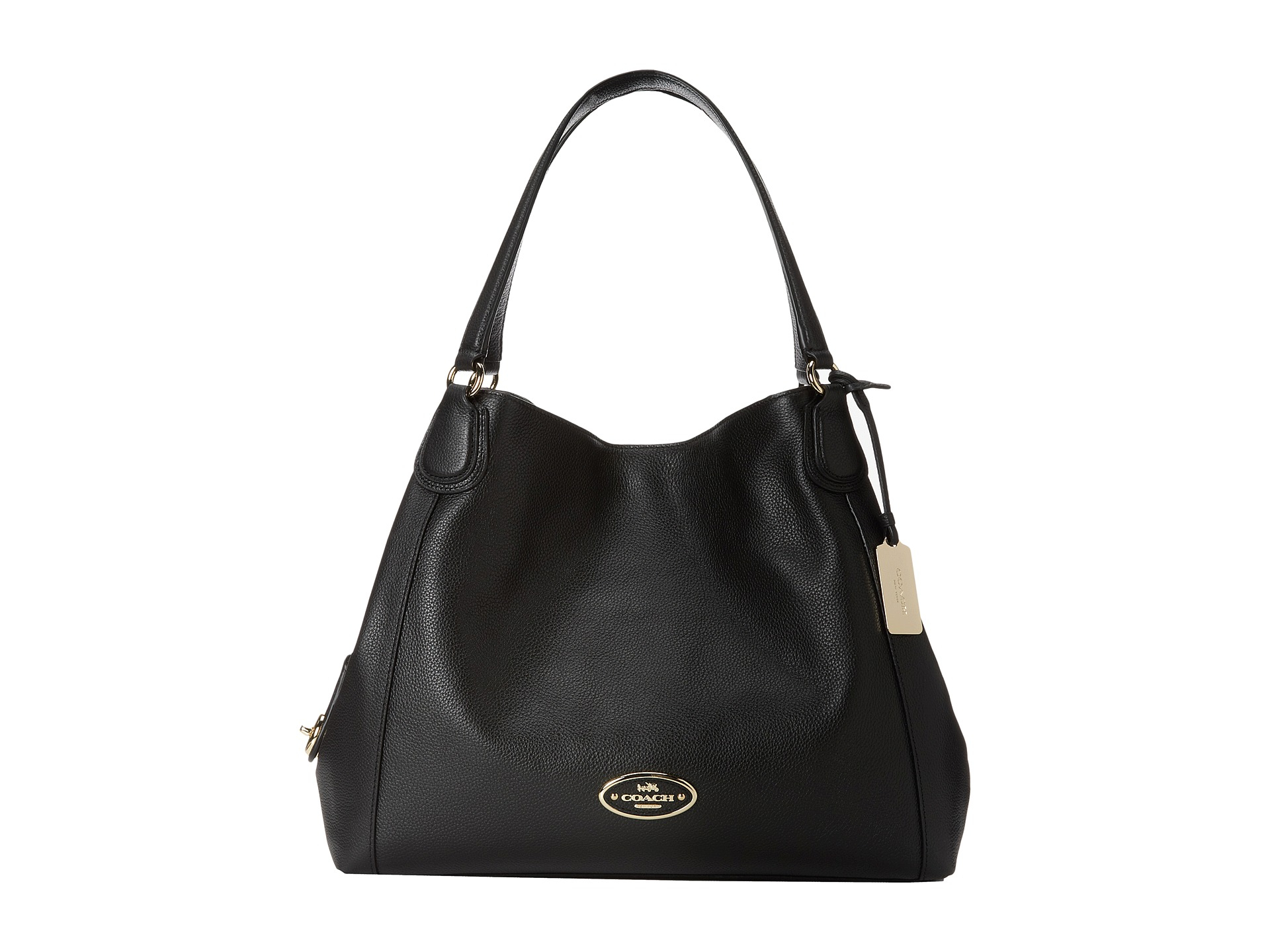 Lyst - Coach Refined Pebbled Leather Edie Shoulder Bag in ...