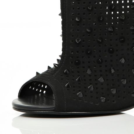 42179767770a River Island Studded Ugg Boots. River Island Black Studded Perforated Peep  Toe Ankle Boots in Black