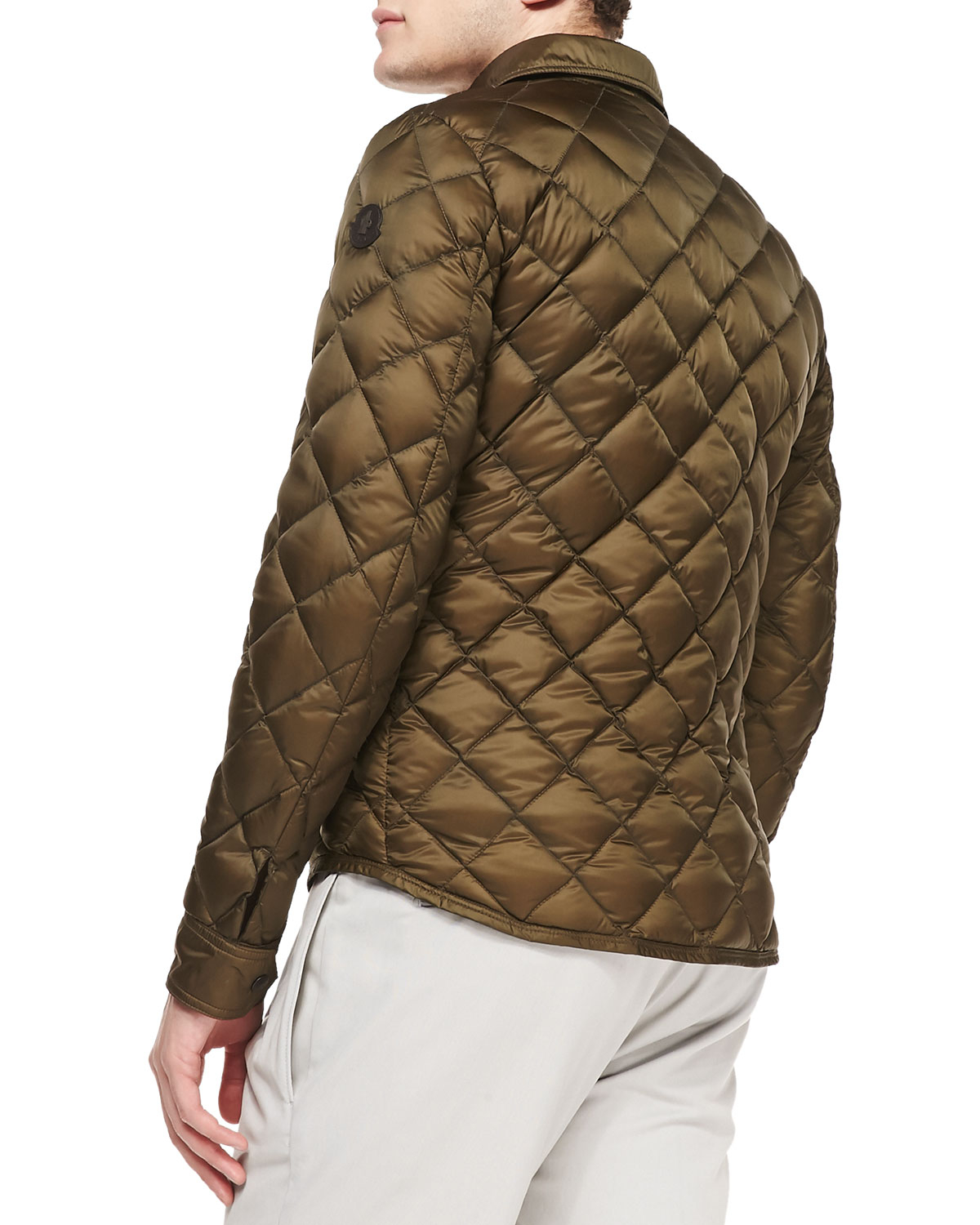 Lyst Moncler Frederic Diamond Quilted Jacket In Natural For Men