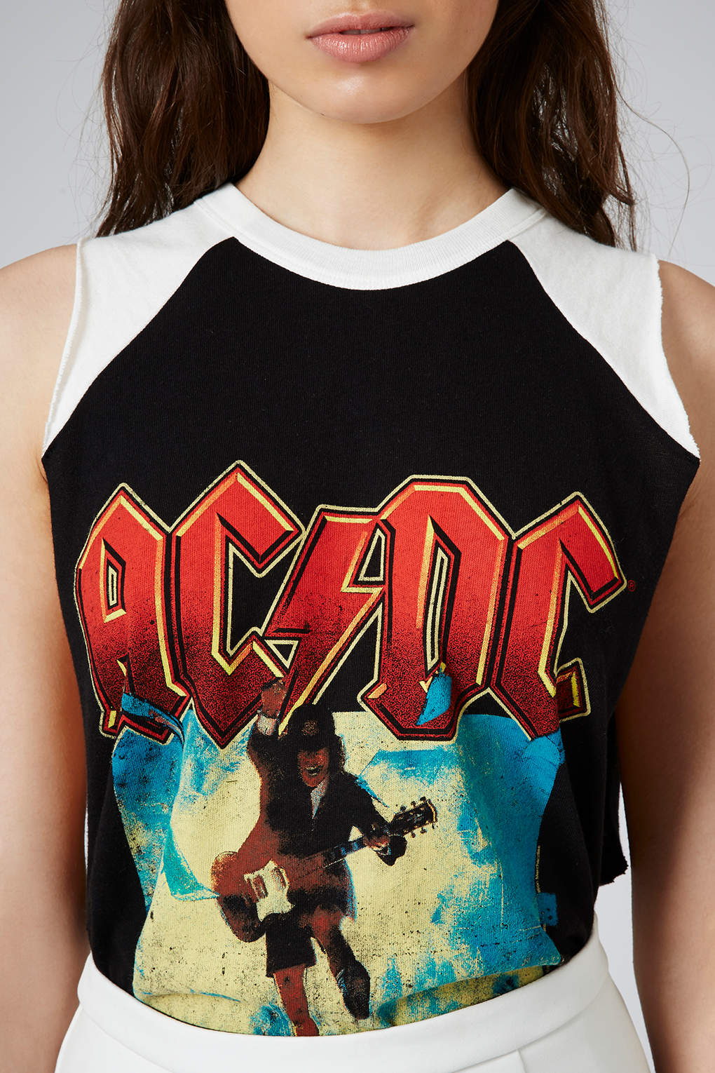 00eee96d TOPSHOP Womens Acdc Tour Tank By and Finally Black in Black - Lyst