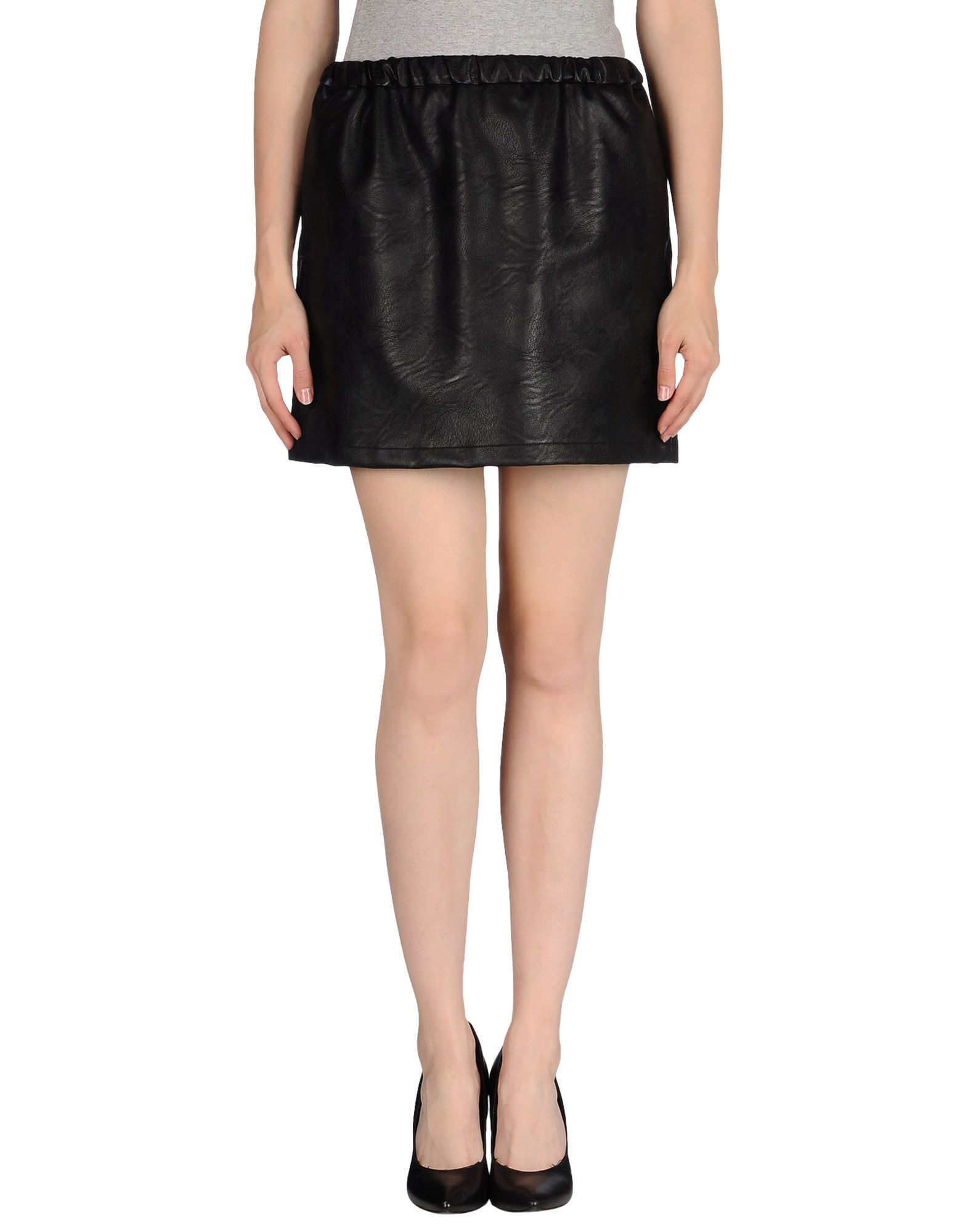 m grifoni denim mini skirt in black save 54 lyst
