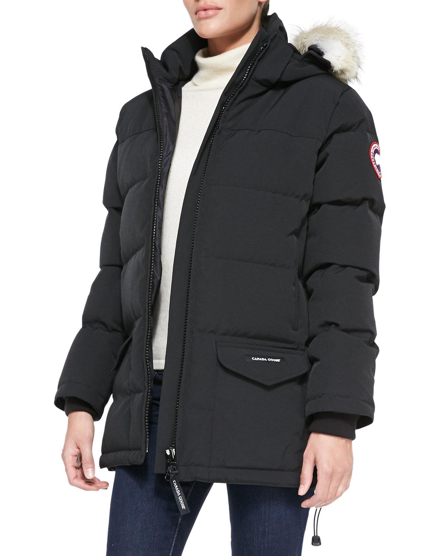 Canada Goose Solaris Fur Hood Parka Coat In Black Lyst