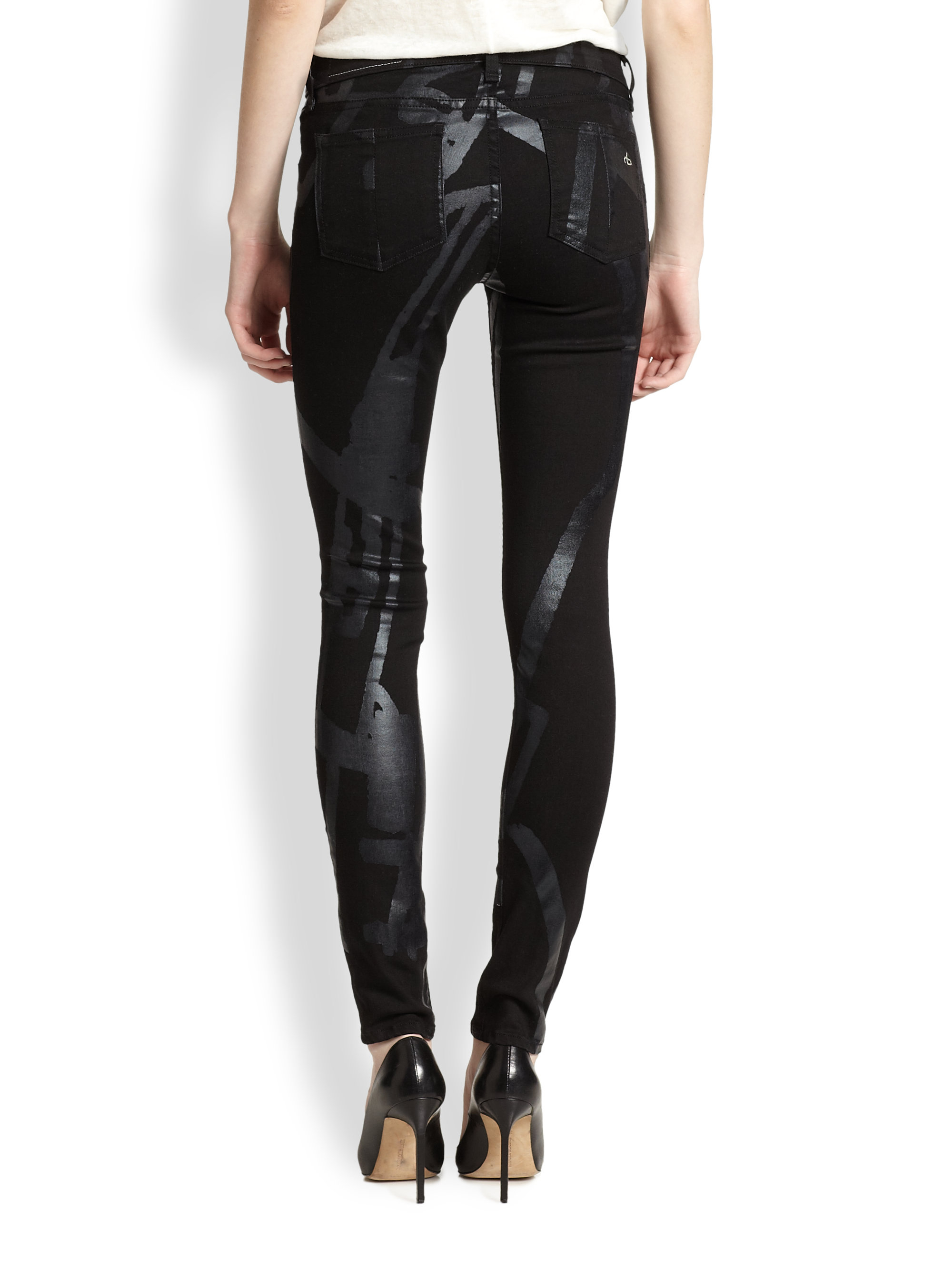 Womens Black Ripped Skinny Jeans