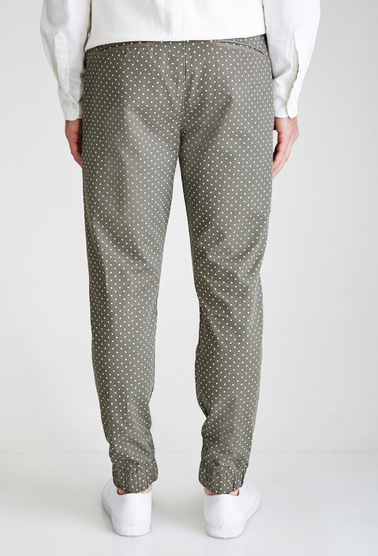 polka dot pants forever 21 polka dot in green for lyst 30737