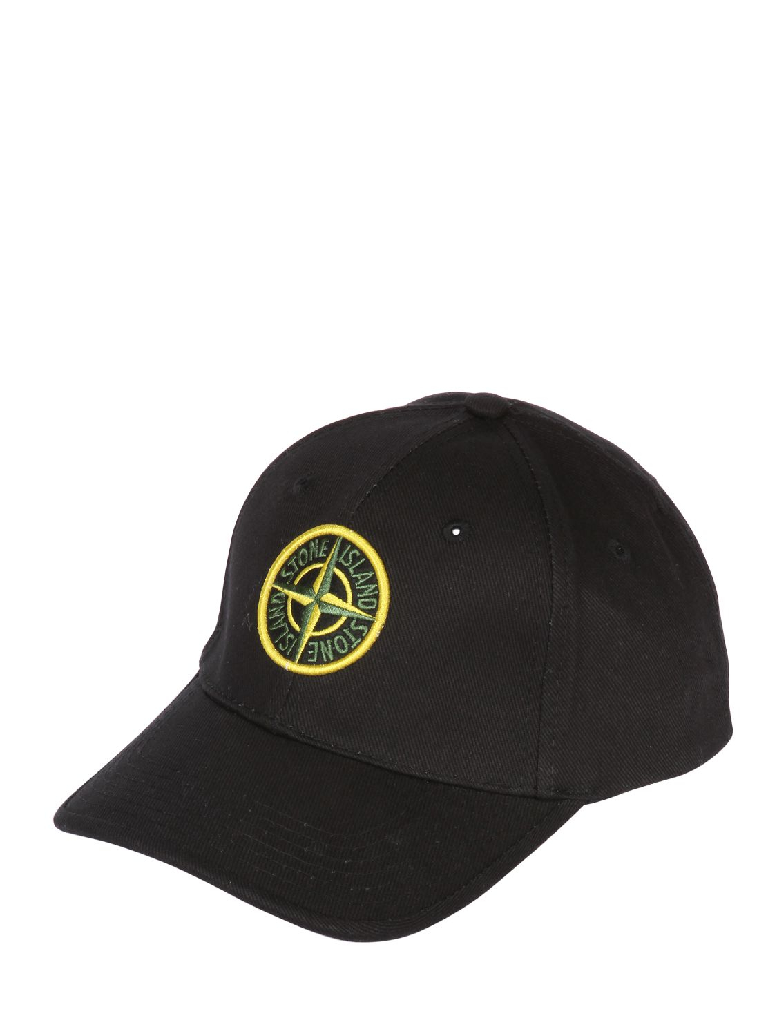 Lyst Stone Island Cotton Canvas Baseball Hat In Black