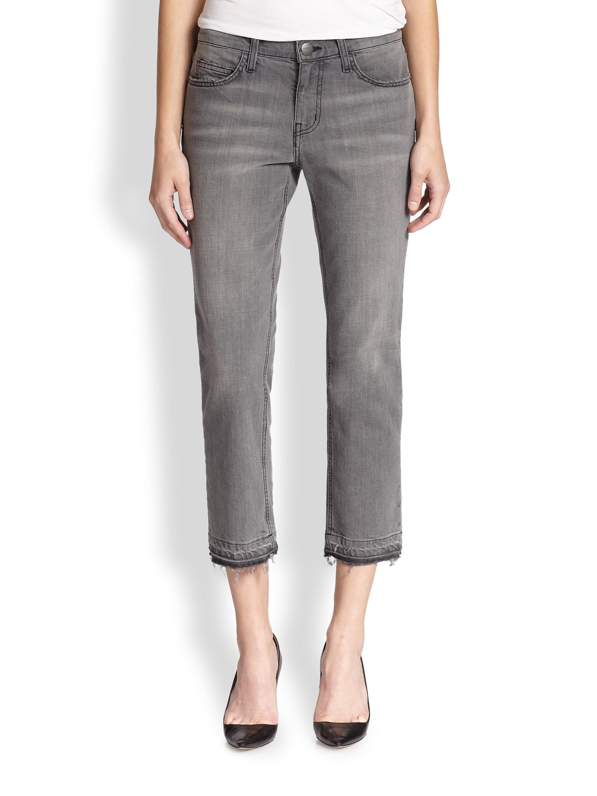 cropped jeans - Grey Current Elliott NWMORZSC