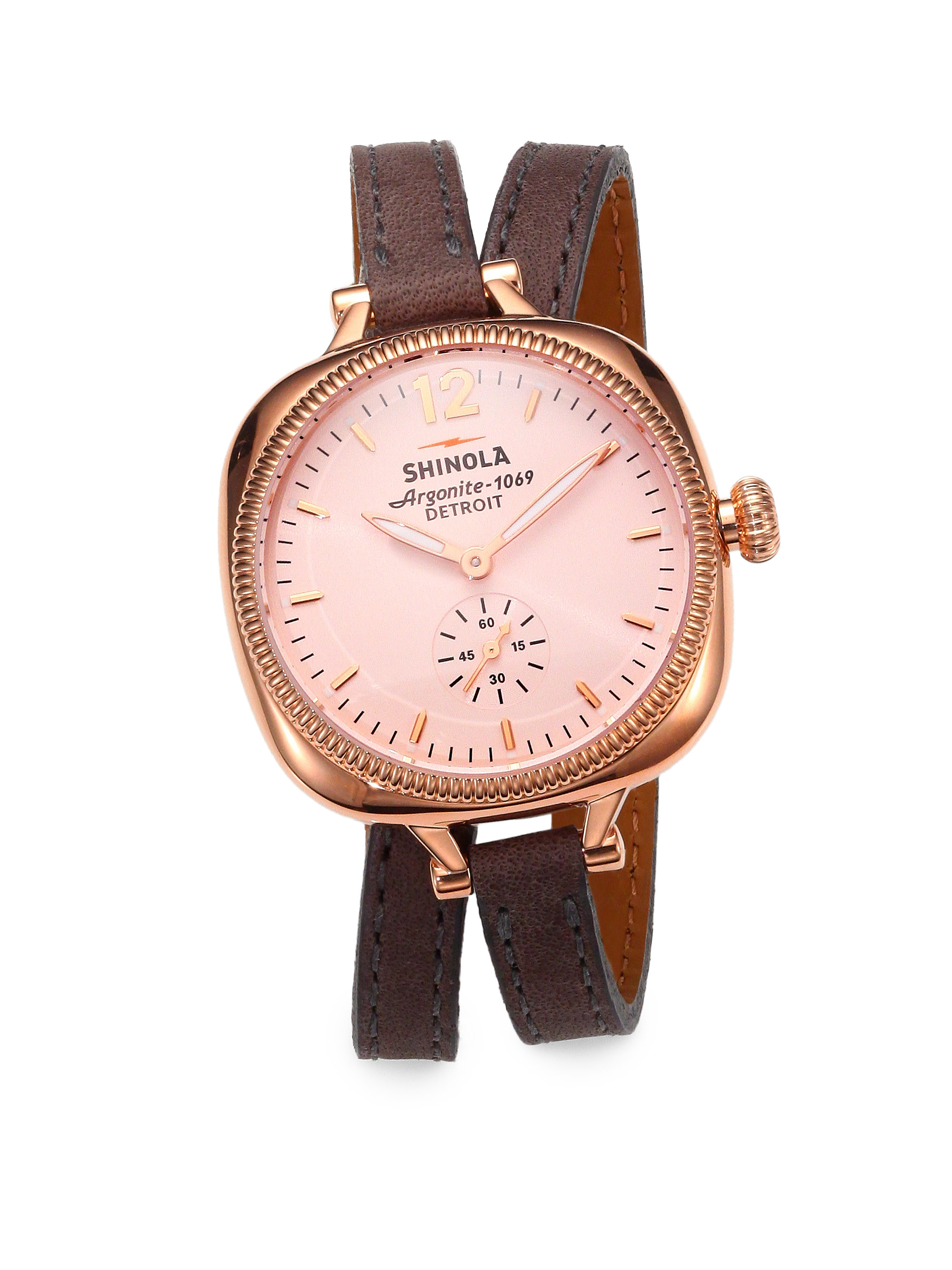 lyst shinola gomelsky rose goldtone pvd stainless steel