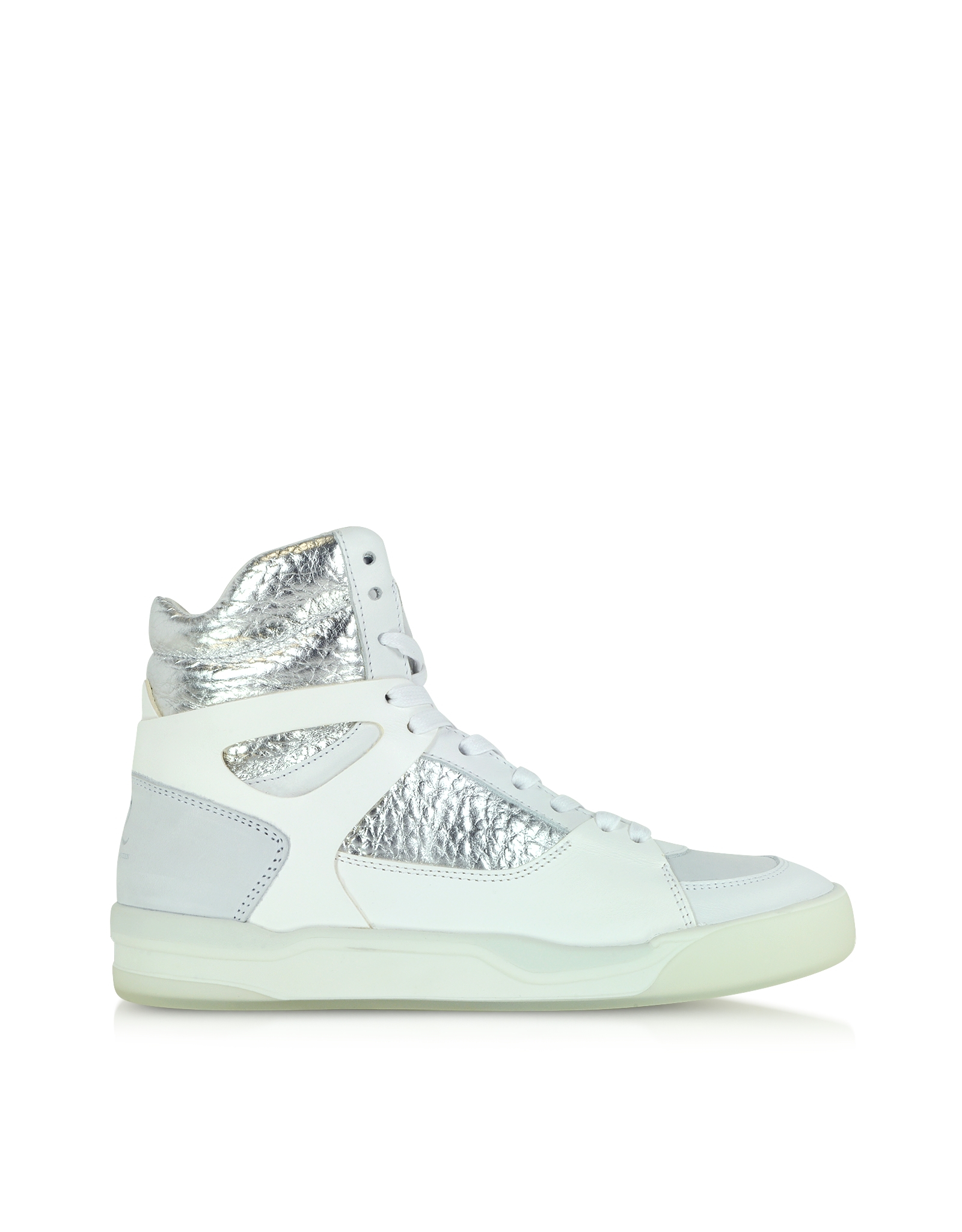 d907f427b8d Alexander Mcqueen X Puma Move Leather High-Top Sneakers in White - Lyst