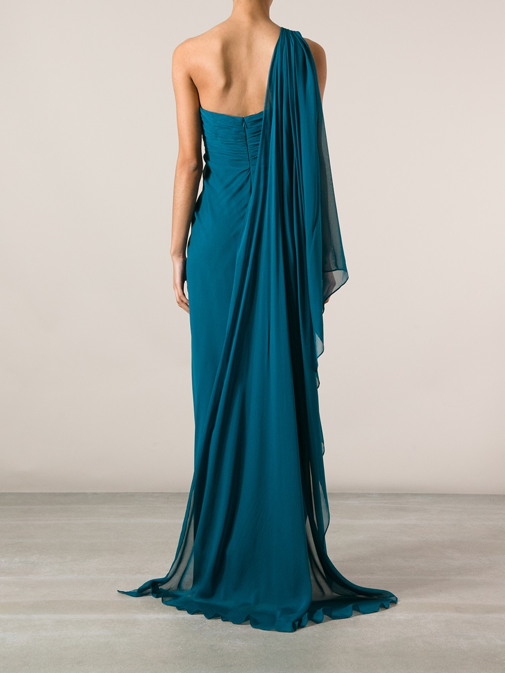 5e0c752e Marchesa notte Grecian Sleeveless Gown in Blue - Lyst