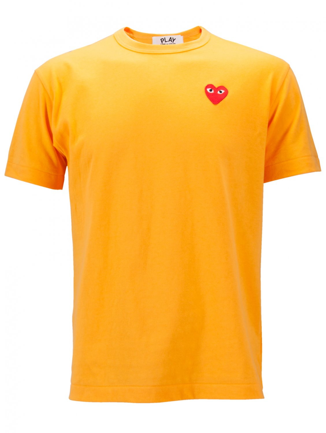 Play Comme Des Gar Ons Play Mens Red Heart T Shirt Yellow