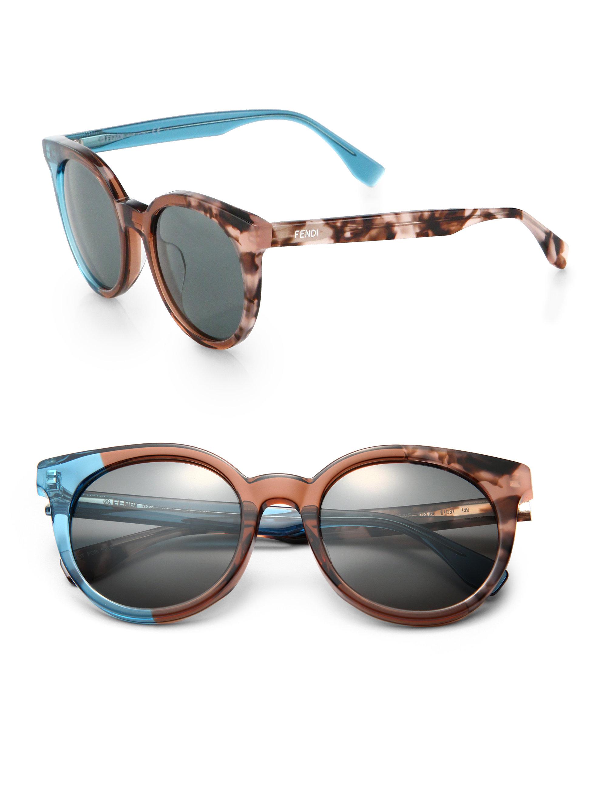 20bbafd9b8716 Fendi Colorblock Sunglasses