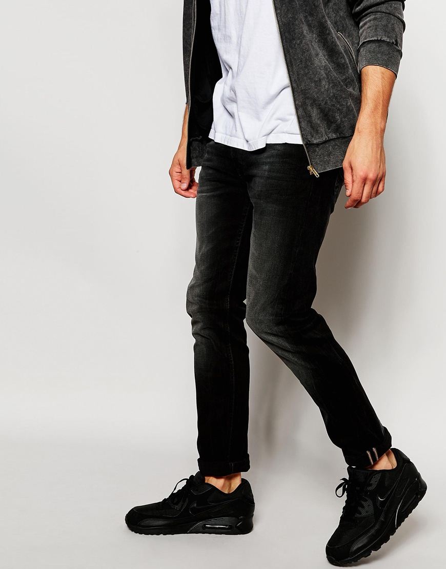 a6092554 Lee Jeans Jeans Luke Stretch Skinny Fit Black Out Blasted Vintage ...