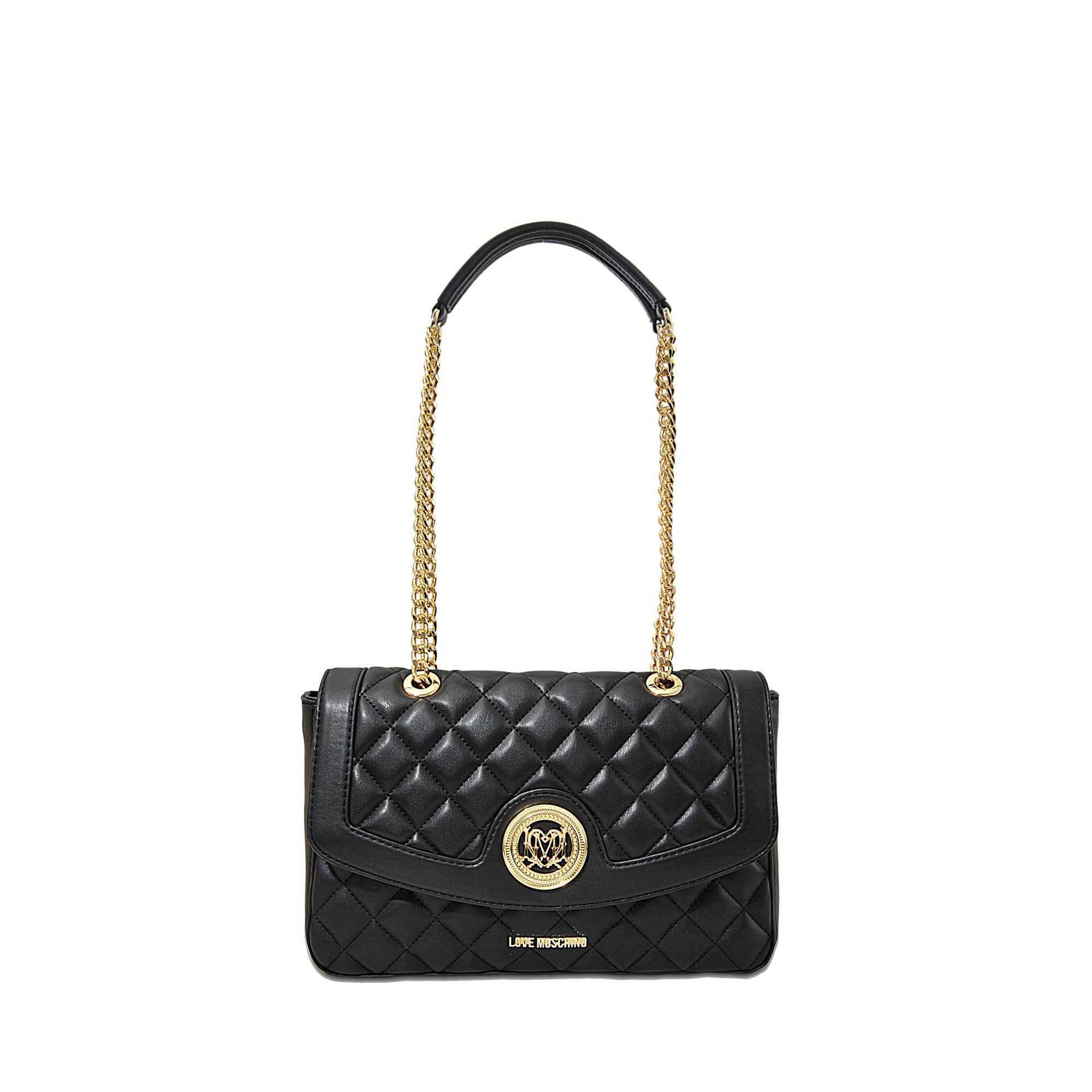 Quilted Shoulder Bag - Black Love Moschino hUtvxc2E