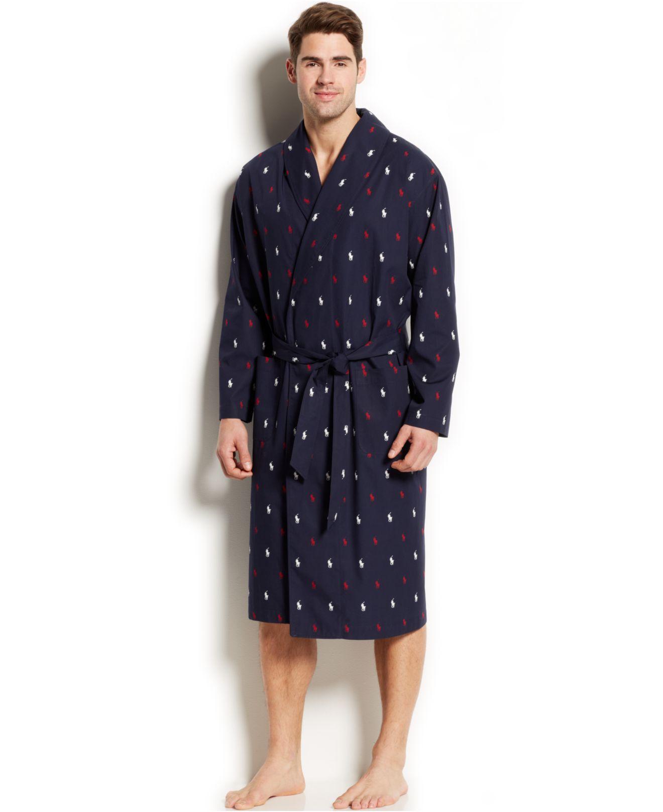 bd4e5b7de6 Lyst - Polo Ralph Lauren Allover Pony Robe in Blue for Men